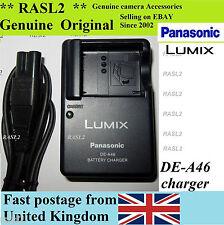 Genuine Panasonic Lumix CARICABATTERIE DE-A46 cga-s007a e DMC-TZ4 TZ5 DMC-TZ3 DMC-TZ1