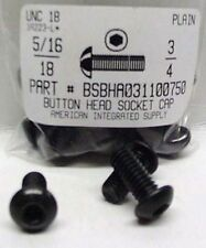 5/16-18x3/4 Button Head Hex Socket Cap Screws Alloy Steel Black (22)