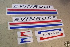 Evinrude Fastwin Vintage Outboard Motor Decal FREE SHIP + Free Fish Decal!