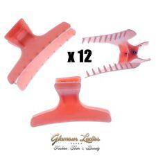 12 x in Plastica Rosa Farfalla Capelli MORSE, CAPELLI strumenti marca, PARRUCCHIERI CAPELLI fino