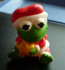 1989 Muppet Babies Rubber Figure Kermit The Frog Santa Squeeze Toy Christmas