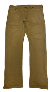Levi's 513 Brown Slim Straight Men's Red Tab Denim Jeans Size 36 X 32