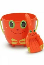 Melissa & Doug Clicker Crab Pail and Shovel Orange