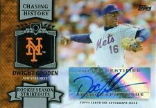 2013 TOPPS CHASING HISTORY DWIGHT GOODEN AUTOGRAPH NEW YORK METS ROOKIE SEASON