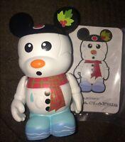 DISNEY VINYLMATION 3 Inch Holiday 1 Snowman Christmas Mickey With Card Rare