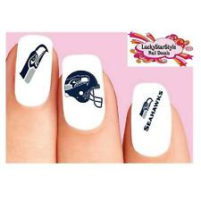 Waterslide Nail Decals Set of 20 - Seattle Seahawks Football Assorted
