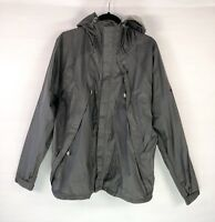 The North Face Mens Windbreaker Hooded Nylon Jacket Size XL Stow Dark Grey Rain