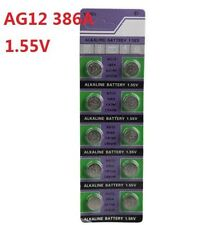 10X Batteries AG12 L1142 LR43 386A SR43 Coin Button Cell Battery Watch camera *
