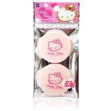 Hello Kitty Circular Soft NBR Puff 2P Makeup Powder Pact Twoway Cake Beige HK020