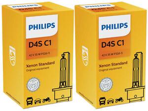 2x PHILIPS 4300K OE FACTORY D4S 42402C1 HID XENON HEADLIGHT BULBS w/ COA LABEL