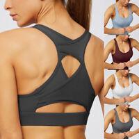 Damen Push up Sport BH Bra Unterwäsche Damen Slim Fit Fitness Yoga Bustier Tops
