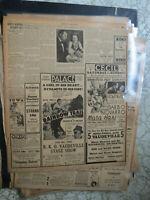 Movie Newspaper GARBO IN MATA HARI + VAUDEVILLE STAGE SHOW