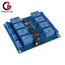 5V Micro USB 8-channel 8 CH Relay Module 10A Driver-free PC Control ICSE014A