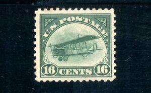 USAstamps Unused VF US 1918 Airmail Jenny Scott C2 OG MLH