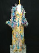 LAVISH VINTAGE 1960's ELINOR SIMMONS FOR MALCOLM STARR EVENING GOWN sz 12