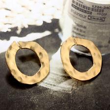 316L Stainless Steel Fashion Women Ladies Gold/Silver Elegant Hoop Earrings Gift