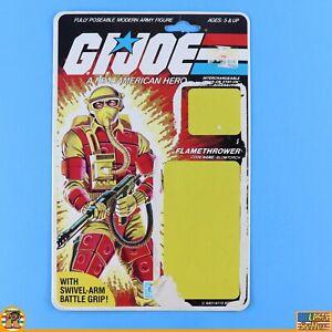 GI JOE ARAH - Blowtorch 1984 - Uncut File Card - Cardback - [ARAH-190]