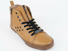 New  Galliano Mustard Leather Sport Shoes Size 42 US 9 Retail $440