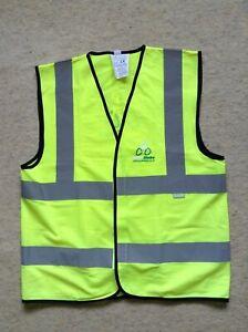 Cycle Stoke Hi Viz Vis Fluorescent Safety Waistcoat Vest Tabard Size L