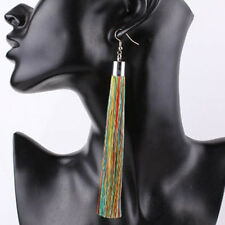 Charm Women Jewelry Long Tassel Drop Dangle Earrings Lady Thread Hook Ear Stud Multicolor