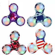 LED Fidget Spinner w/Switch Electroplate - One Item w/Random Color and Design