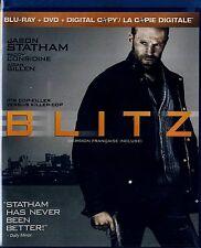 NEW  BLU-RAY/DVD/ DIGITAL COPY COMBO 3DISC SET // BLITZ // JASON STATHAM