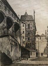 Paris palais de justice disparu cour Lamoignon graveur Martial c 1862 France .