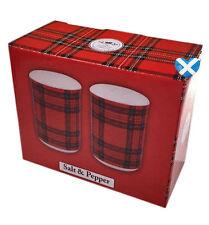 TARTAN SALT & PEPPER Cruet Set - Scotland Scottish Pots Gift Glasgow UK