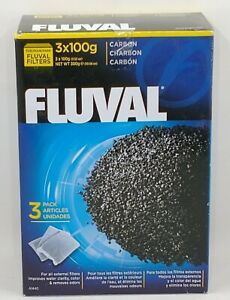 Fluval Carbon Filters 3x100g Nylon Bags 3-Pack Aquarium A1440 External Filter