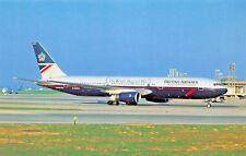 British Airways Boeing B-767-336 G-BNWA MSN 24333 Paris France Airplane Postcard