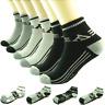 AA Sports Lot 3-12 Pairs Mens Ankle Quarter Crew Socks Cotton Low Cut Size 9-13