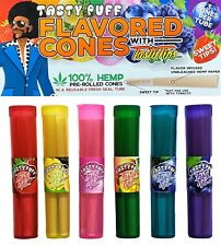 Tasty Puff Tasty Tips Flavored Cones, 6 Flavors 3 of Each Flavor=18 Cones Total