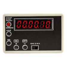 JJC 12V Motorsport Digital In-Car Rally Clock/Stopwatch – Red LED