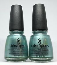 China Glaze Nail Polish Metallic Muse 844 Pearly Teal Green Blue Chrome Lacquer