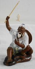 *CBG, alter Chinese beim Angeln, Dekoration zum Bonsai, Keramik, weiß