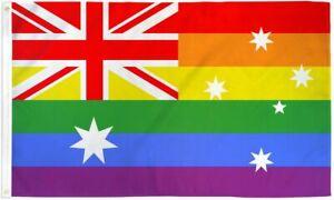 "10 x ""AUSTRALIA RAINBOW"" 3x5 ft flag polyester pride LGBTQ"