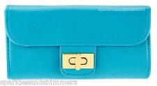 bareMinerals BLUE Clutch Style Make Up/Cosmetics Cosmetic/Makeup Bag/Purse