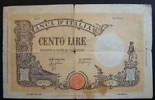 1942   Regno D'Italia 100  Lire Barbetti   decreto   9/12/ 1942