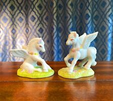Vintage Wallace Berrie Fantasy Series - Set Of Two - Pegasus, Porcelain, 1980s