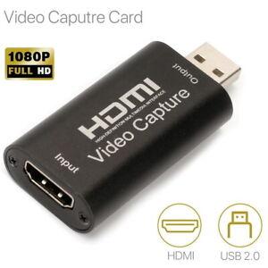 HDMI Video Capture Card Screen Record USB 2.0 1080P Game HD Video Capture Card