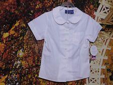 GIRL'S SCHOOL WEAR WHITE SHORT SLEEVE BLOUSE BY ARROW / SIZE S (7-8) Regular