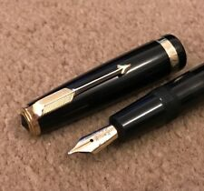 A Early Black PARKER DUOFOLD chubby Fountain Pen - 14k Medium Nib