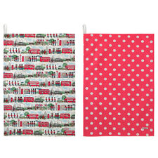Cath Kidston London Streets set of 2 tea towels BNWTS
