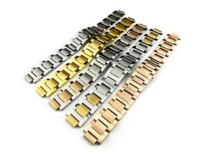 20mm x 12mm Stainless Steel Strap Band Bracelet for Ballon Bleu de Cartier Watch
