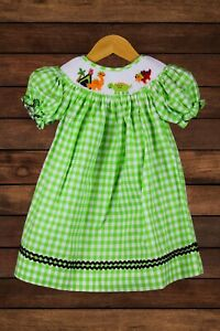 Baby Girl Dinosaur Smocked Dress New with tags, Size 3T