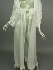Vintage 80s Tosca of California White Sheer Peignoir Robe Bridal Lingerie Large