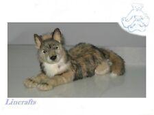 Lying Wolf Plush Soft Toy by Hansa. 4293