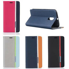 Spell Color Flip Cover Stand Wallet PU Leather Case For Motorola Moto G4 G4 Plus