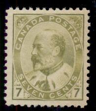 CANADA #92 7¢ olive bister, og, NH, VF, Miller certificate, Scott $650.00