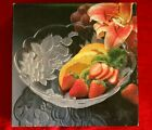 """Home Beautiful """"Garden Harvest"""" from Japan 9"""" Glass Serving Bowl"""